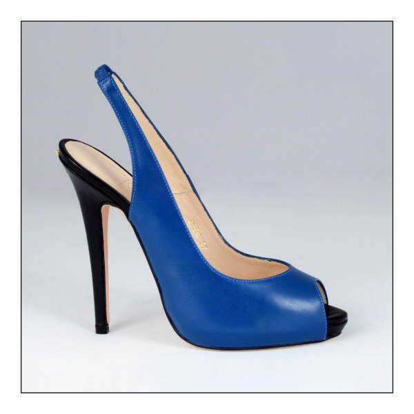Escarpin Slingback Tais Black and Blue Valencey