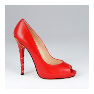 Escarpin Lena Red rouge Cuir Valencey